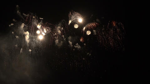 Beautiful fireworks explosion festival at night Footage
