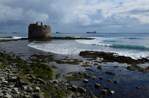 Old defense tower by the sea, Gran Canaria Photo