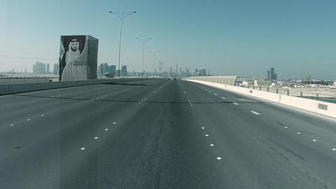 Driving On A HighWay In Abu Dhabi, UAE GIF