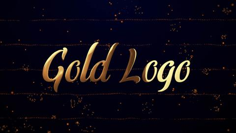 Gold Logo Reveal (Particles Intro) After Effects Template