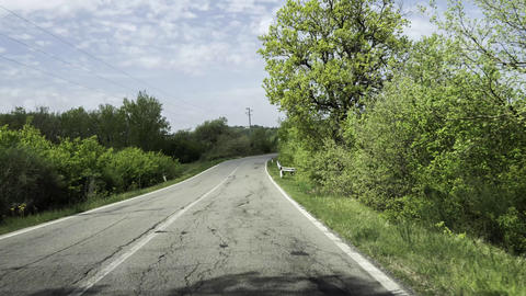 Time lapse of a Chianti road flowing in 4K Footage