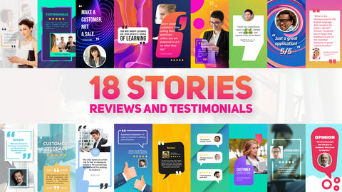 Reviews And Testimonials Insta Pack After Effects Template