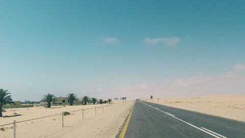 Driving On Coastline Highway In Namibia Archivo