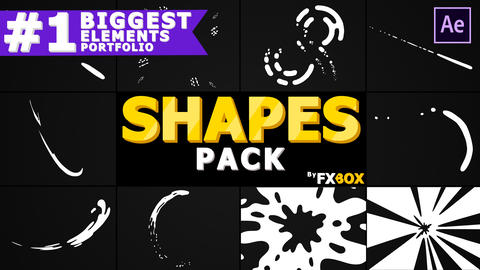 Hand Drawn Dynamic Shapes After Effects Template