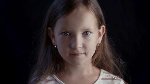 Portrait young pretty girl Stock Video Footage