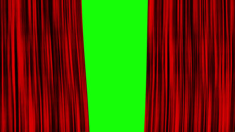 Red Curtain Green Screen Opening, Red Curtain Chroma Key Background Closing Opening, Red Curtain 4k Animation