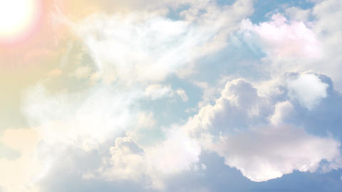 Flying over clouds, Flying through clouds, Flying below clouds, Flying behind clouds Animation