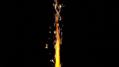 Sparkler isolated on black background Footage