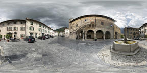 the municipal Square in Venzone VR 360° Photo