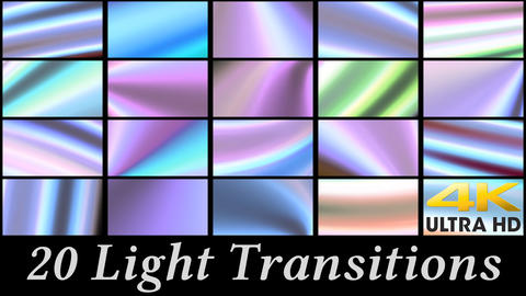 20 Light Transitions After Effects Template