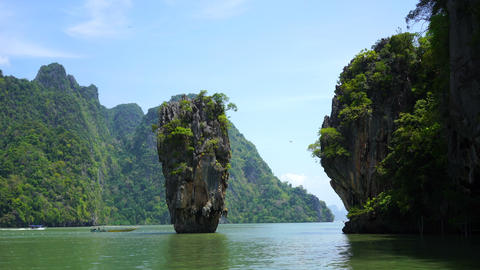 island in the ocean in thailand Footage