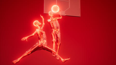[alt video] basketball game players with visible bones