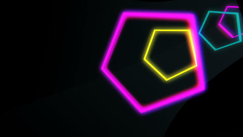 Colored Pentagons VJ Tunnel Animation