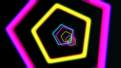 [alt video] Colored Pentagons VJ Tunnel