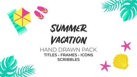 Summer Vacation Hand Drawn Pack Premiere Pro Template