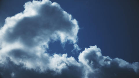 Flying Through Dramatic Clouds Time Lapse Footage