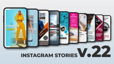 Instagram Stories v 22 After Effects Template