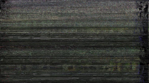 KickAss TV Failure Abstract Lights Background, Television Glitch And Damage Animation