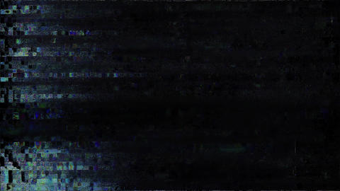 Glitches From An Old Tape, Black Screen Vital Animation