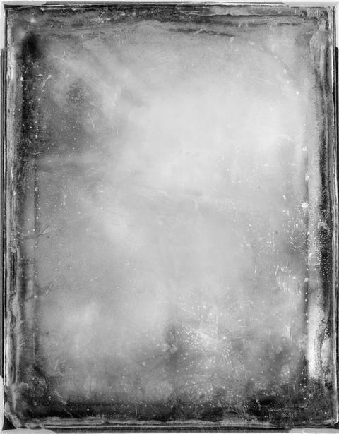 Black and white frame with scratches and damages.Texture or background Fotografía