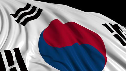 South Korean flag Animation