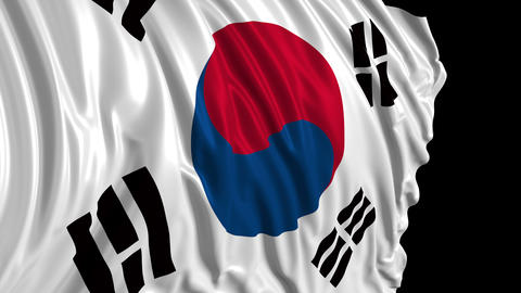 South Korean flag Videos animados