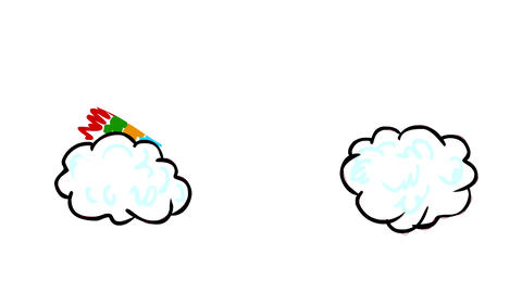 [alt video] Rainbow and Cloud Drawing 2D Animation