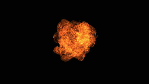 Fire explosion to the camera with Alpha Channel, Live Action