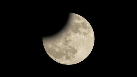 Full moon sky night eclipse Stock Video Footage