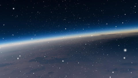 Earth Horizon from Space Animation GIF