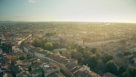 Aerial view of cityscape of Pisa in the evening, Italy Footage