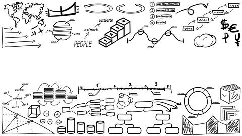 Texture of hand drawn infographics with place for text GIF