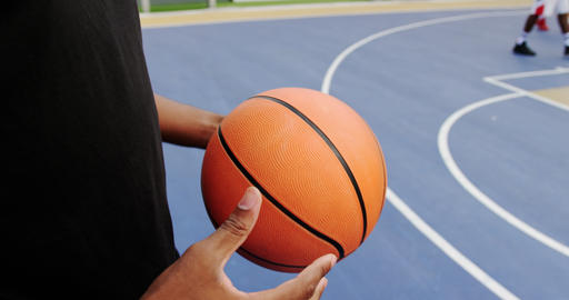 Basketball player playing with basketball 4k Live Action