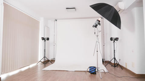 Professional photo studio with nobody in Live Action