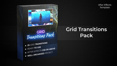 Grid Transition Pack After Effects Template