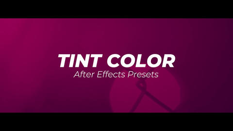 Tint Color After Effects Animation Preset