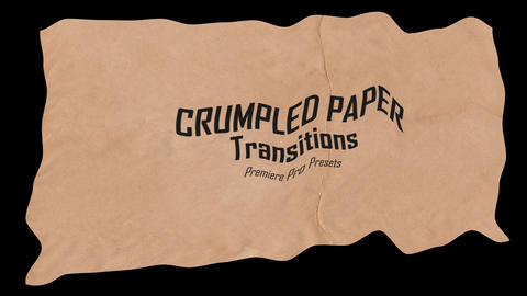 Crumpled Paper Transitions Premiere Proエフェクトプリセット
