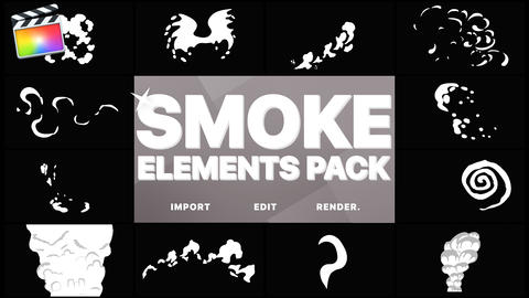 Funny Smoke Elements Apple Motion Template