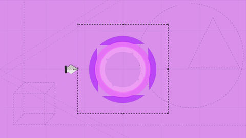 Digital animation of graphic moving on purple background Animation