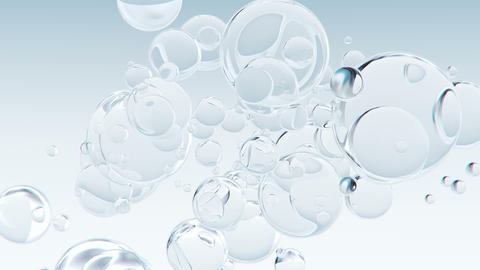 Abstract macro bubbles background Animation