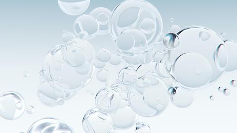 Abstract macro bubbles background Videos animados