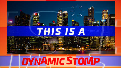 Dynamic Stomp Opener After Effects Template
