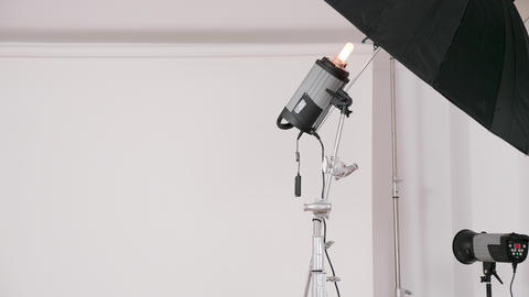Close up of professional lighting equipment Live Action