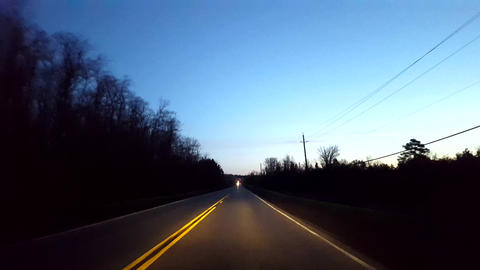 Driving Rural Countryside Road During Morning. Driver... Stock Video Footage