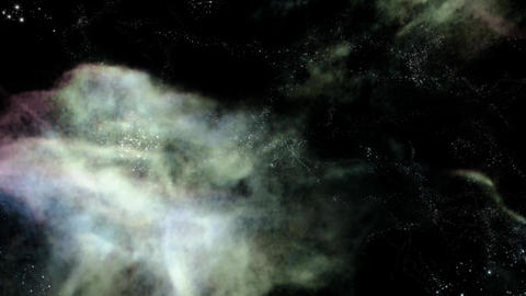 Space 2205: Traveling through star fields in deep space Animation