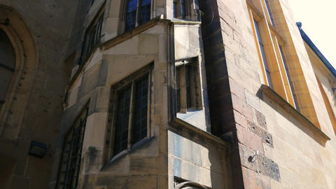 Stiftskirche church bell tower in Stuttgart in Germany Footage