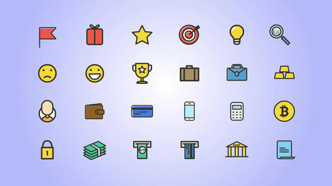 Finance Icons Pack After Effects Template