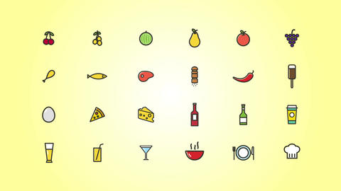 Food Icons Pack After Effects Template