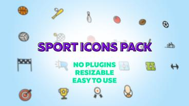 Sport Icons Pack After Effects Template