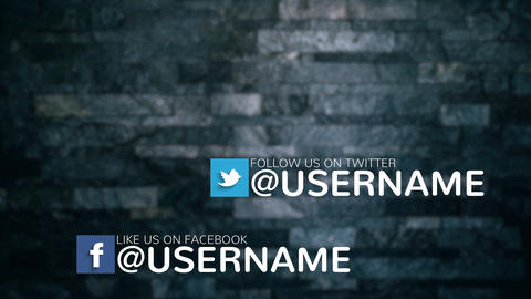Simple & Clean Social Media Lower Thirds Pack 4K After Effects Template